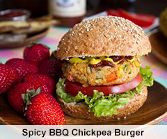 Spicy BBQ Chickpea Burger