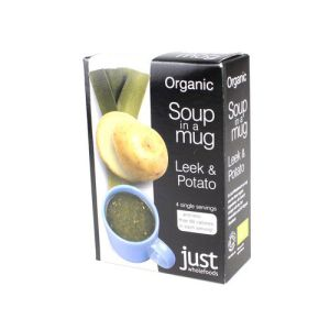 Just Wholefoods Organic Soup-in-a-mug Leek & Potato