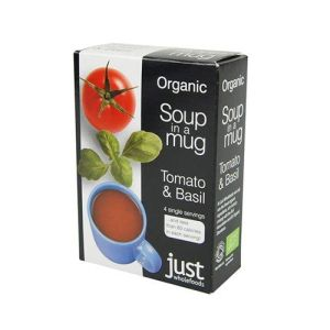 Just Wholefoods Organic Soup-in-a-mug Tomato & Basil